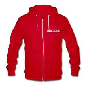 Broke College Style Zip Up Slim Fitting Hoodie - Unisex Fleece Zip Hoodie by American Apparel
