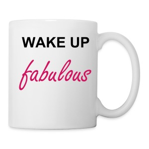 Wake Up Fabulous Mug - Porcelain White  - Coffee/Tea Mug