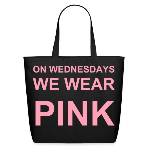 On Wednesdays We Wear Pink Mean Girls Tote  - Eco-Friendly Cotton Tote