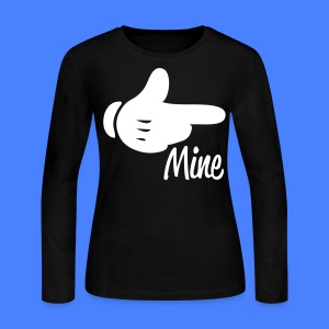 Mine Pointing RIght Long Sleeve Shirts - stayflyclothing.com - Women's Long Sleeve Jersey T-Shirt