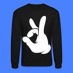 Rock Out Hand Long Sleeve Shirts - stayflyclothing.com - Crewneck Sweatshirt