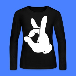 Rock Out Hand Long Sleeve Shirts - stayflyclothing.com - Women's Long Sleeve Jersey T-Shirt