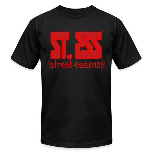 Original STREET ESSENCE Logo Tee - Red/Neon Orange  - Men's Fine Jersey T-Shirt