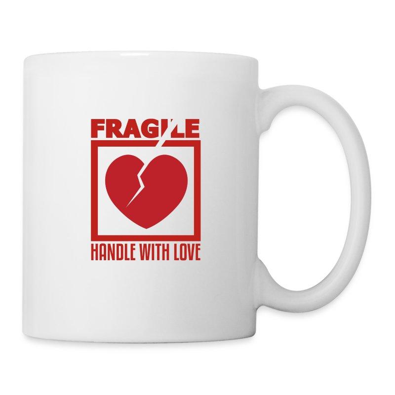 Fragile Handle With Love Funny T Shirt Design Mug