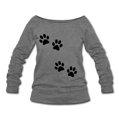 Walking Paws - Women's Wideneck Sweatshirt