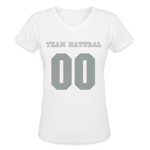 V-Neck Team Natural - Women's V-Neck T-Shirt
