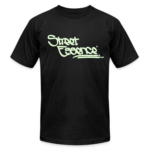 Street Essence Script tee - Glow in the dark green - Men's Fine Jersey T-Shirt