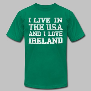 Live In U.S.A. Love Ireland - Men's T-Shirt by American Apparel