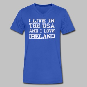 Live in USA Love Ireland - Men's V-Neck T-Shirt by Canvas