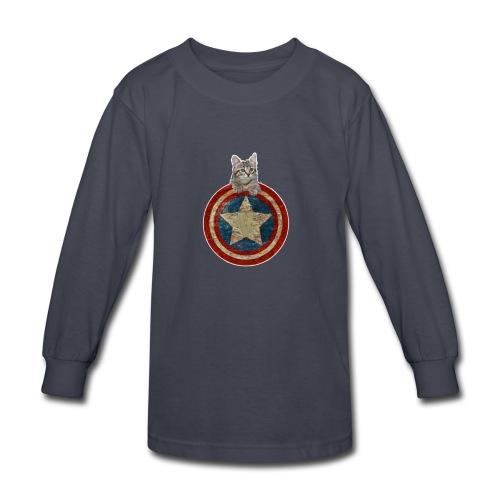 Vitality Captain Kitty Shirt - Kids' Long Sleeve T-Shirt