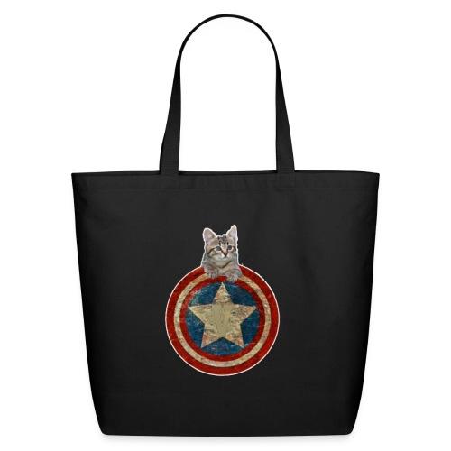 Vitality Captain Kitty - Eco-Friendly Cotton Tote