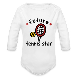 Future Tennis Star - Long Sleeve Baby Bodysuit