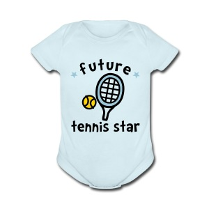 Future Tennis Star - Short Sleeve Baby Bodysuit