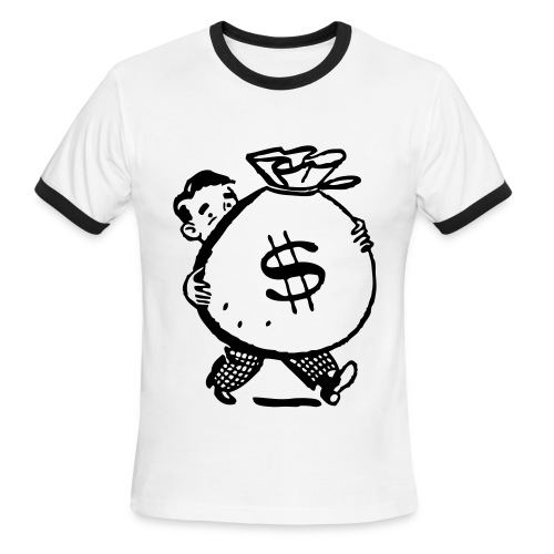 Bag O' Money Tee {2012 V.} - Men's Ringer T-Shirt
