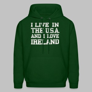 Live In USA Love Ireland - Men's Hoodie