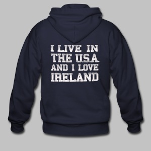 Live In USA Love Ireland - Men's Zip Hoodie