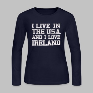 Live In USA Love Ireland - Women's Long Sleeve Jersey T-Shirt