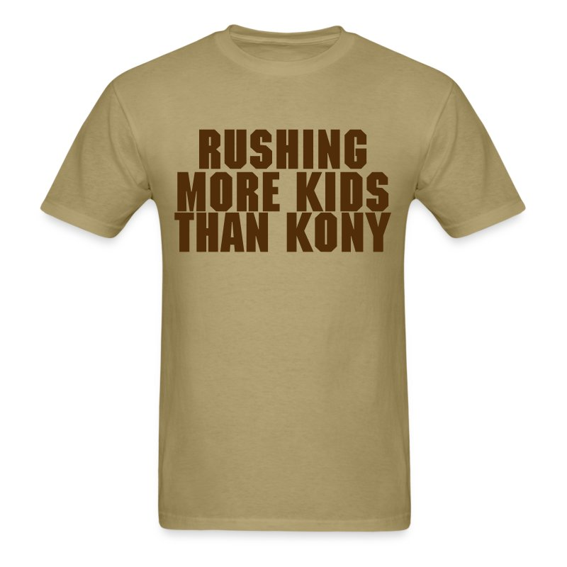 Rushing More Kids Than Kony - Men's T-Shirt