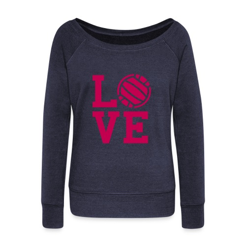 For the Love of Everything Volleyball - Women's Wideneck Sweatshirt
