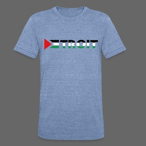 Detroit Palestinian Flag - Unisex Tri-Blend T-Shirt by American Apparel