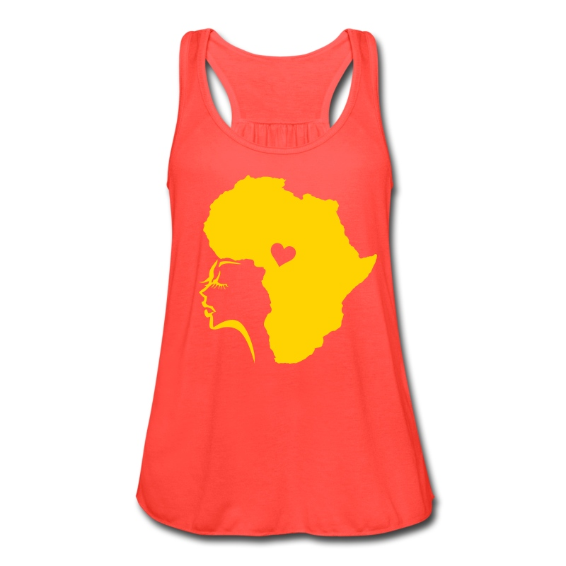 African Woman Hair Love - Women's Flowy Tank Top by Bella