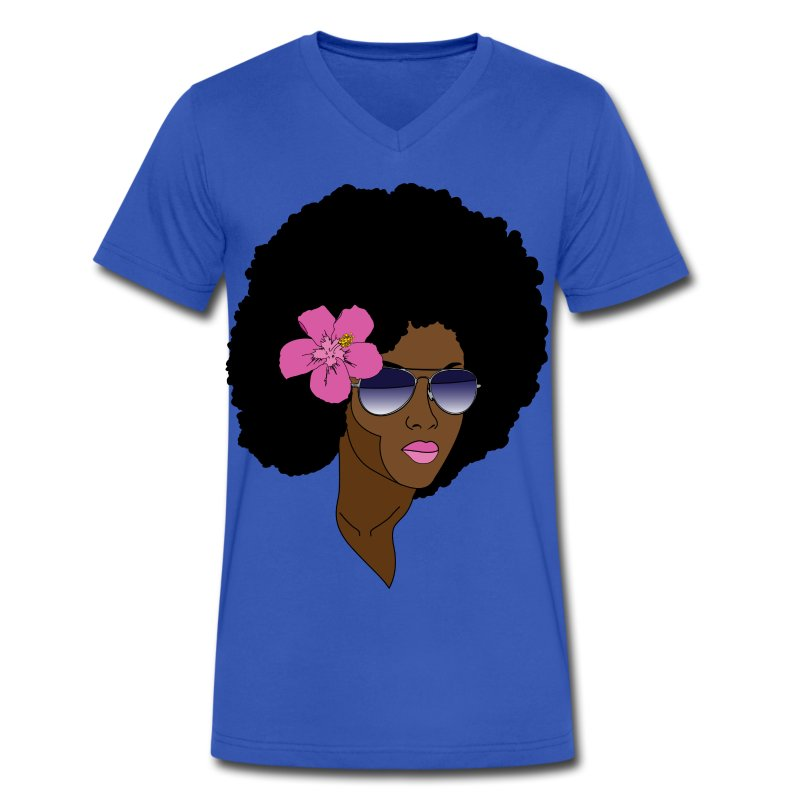 Afro Hunny - Men's V-Neck T-Shirt by Canvas