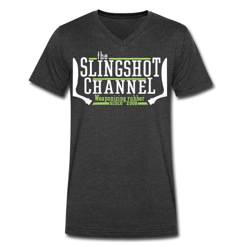 Low-cut The Slingshot Channel - Men's V-Neck T-Shirt by Canvas