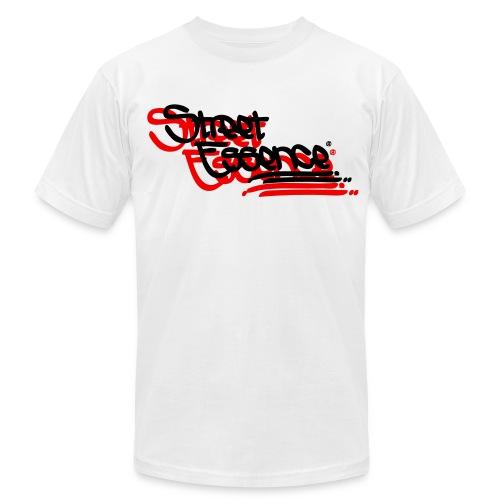 Street Essence Script shirt - Black/ Neon Orange - Men's Fine Jersey T-Shirt