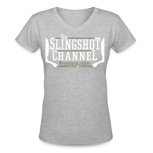 The Slingshot Channel - Women's V-Neck T-Shirt