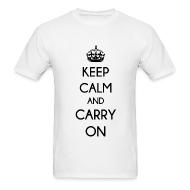 T-Shirts ~ Men's T-Shirt ~ KEEP CALM AND CARRY ON - MENS TSHIRT