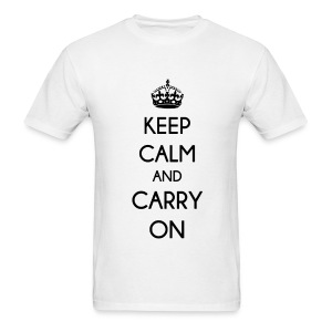 KEEP CALM AND CARRY ON - MENS TSHIRT - Men's T-Shirt