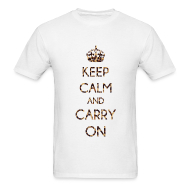 T-Shirts ~ Men's T-Shirt ~ KEEP CALM AND CARRY ON LEOPARD PRINT - MENS TSHIRT