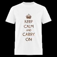 T-Shirts ~ Men's T-Shirt ~ KEEP CALM AND CARRY ON LEOPARD PRINT - MENS TSHIRT