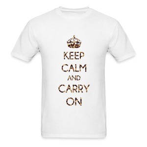 KEEP CALM AND CARRY ON LEOPARD PRINT - MENS TSHIRT - Men's T-Shirt