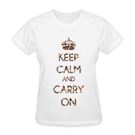 Women's T-Shirts ~ Women's T-Shirt ~ KEEP CALM AND CARRY ON LEOPARD PRINT - LADIES TSHIRT