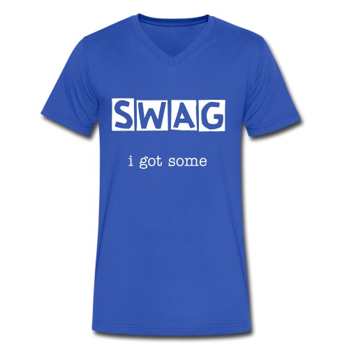 Swag T-Shirt - Men's V-Neck T-Shirt by Canvas