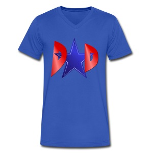A Blue Star Dad - Men's V-Neck T-Shirt by Canvas