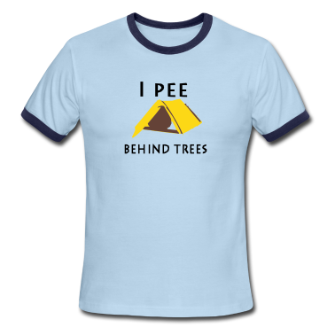 I pee behind trees T-Shirts