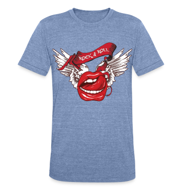 Rock N Roll Winged Lips T-Shirts