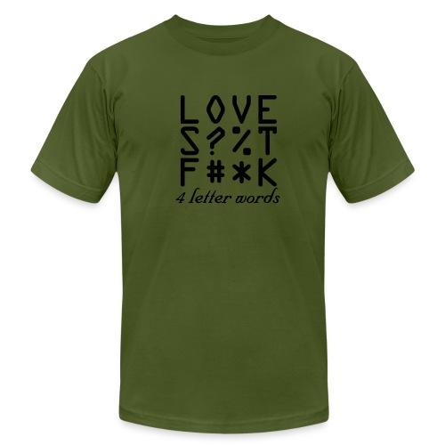 4 Letter Words - Men's Fine Jersey T-Shirt