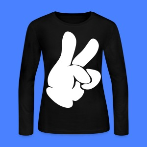 Dueces Hand Long Sleeve Shirts - stayflyclothing.com - Women's Long Sleeve Jersey T-Shirt