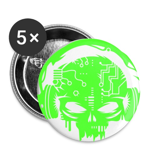 Toxic Green CyberCoreVirus - Large Buttons