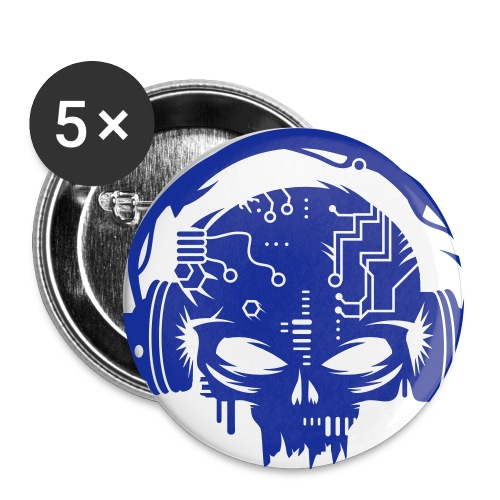 Blue CyberCoreVirus Buttons - Large Buttons
