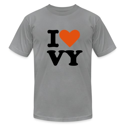 I [heart] VY Flock Print - Men's Fine Jersey T-Shirt