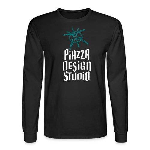 Piazza Design Studio Logo - Men's Long Sleeve T-Shirt