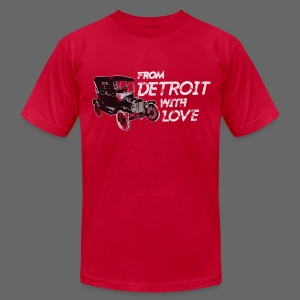 From Detroit With Love - Men's T-Shirt by American Apparel