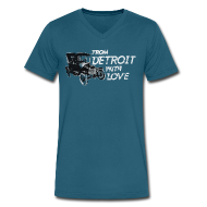 T-Shirts ~ Men's V-Neck T-Shirt by Canvas ~ From Detroit With Love
