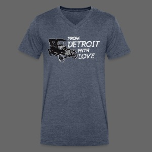 From Detroit With Love - Men's V-Neck T-Shirt by Canvas
