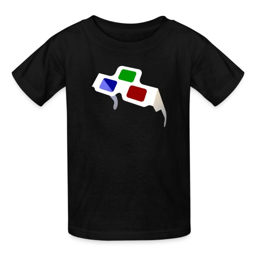 Big 4D Glasses Logo for Kids - Kids' T-Shirt