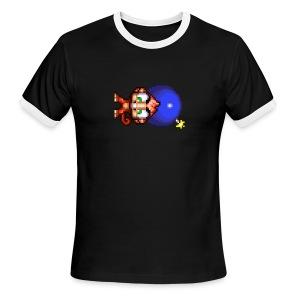 Bomb Monkey - LEFT IS THE NEW DOWN - Men's Ringer T-Shirt